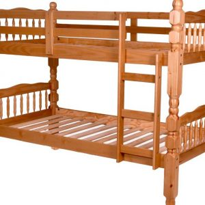 BN-BB04 WOODEN BUNK BED WITH BIG POST