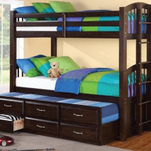 BN-BB05 SINGLE BUNK BED WITH TRUNDLE