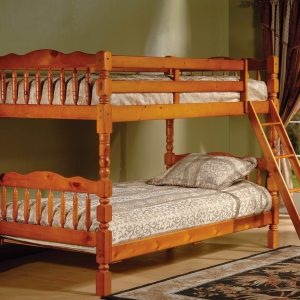 BN-BB07 CHEAP WOODEN BUNK BED WITH SMALL POST