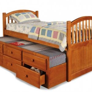 BN-BB08 SINGLE BUNK BED WITH TRUNDLE AND DRAWER