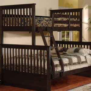 BN-BB09 WOODEN BUNK BED WITH TWIN/FULL