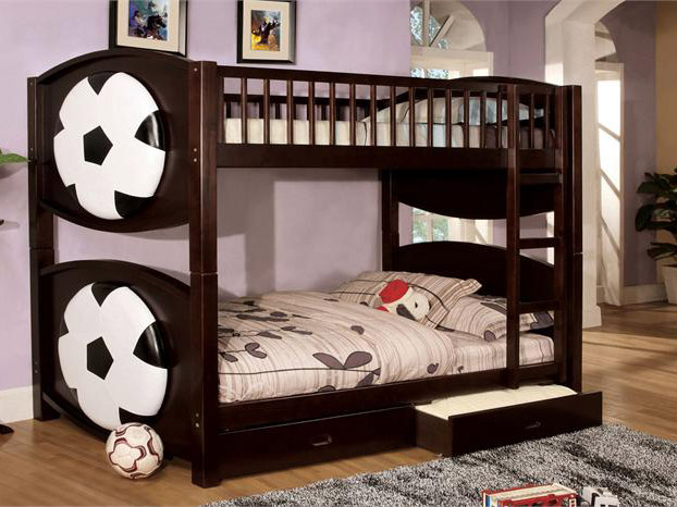 BN-BB12 WOODEN BUNK BED WITH SOCCER