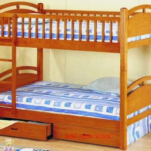 BN-BB13 BEST SELL WOODEN BUNK BED IN VIETNAM
