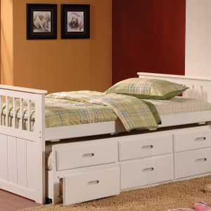BN-BB14 SINGLE BUNK BED/SINGLE BED WITH TRUNDLE AND DRAWER
