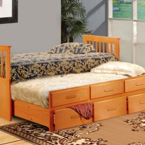 BN-BB21 CAPTAIN BUNK BED/SINGLE BED WITH TRUNDLE AND DRAWER