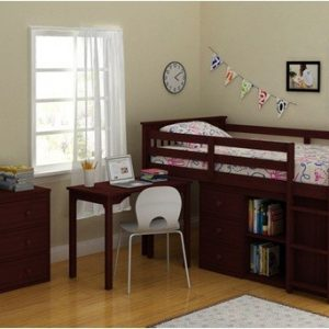 BN-BB23 LOFT KIDS BED WITH HONEY PINE