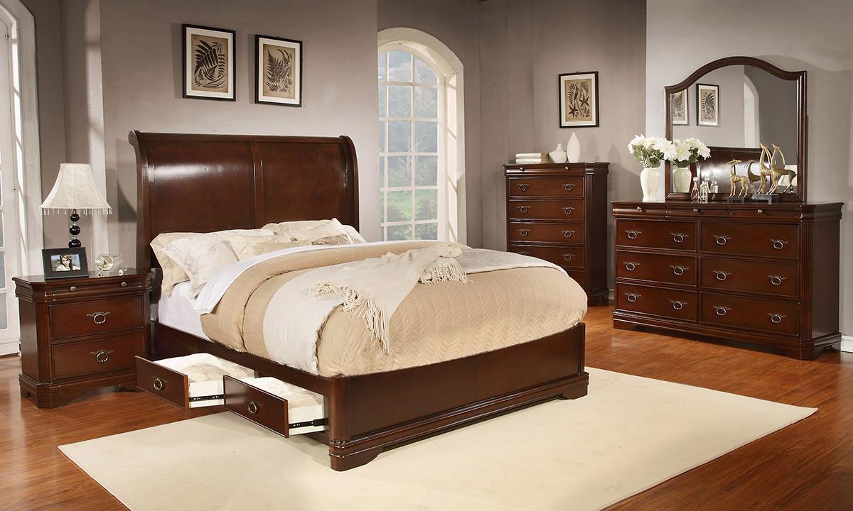 BN-BR03 cherry bedroom furniture in vietnam