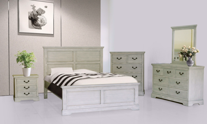 BN-BR05 pine wood bedroom furniture set