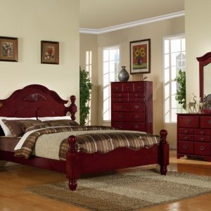 BN-BR09 dark cherry bedroom set