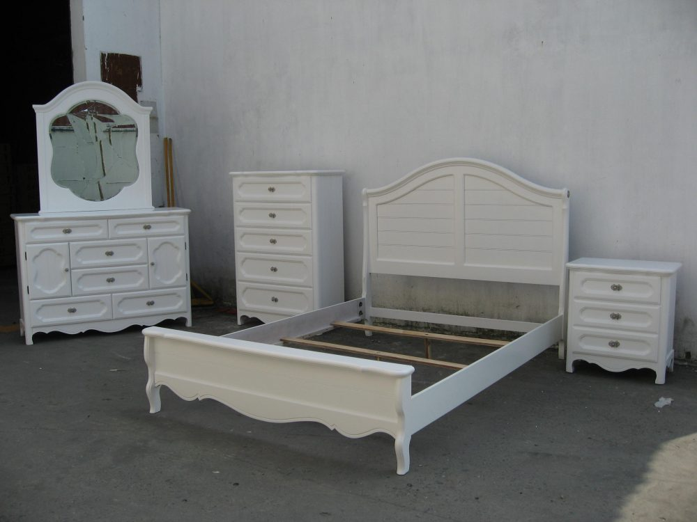 BN-BR10 white birch classic bedroom furniture