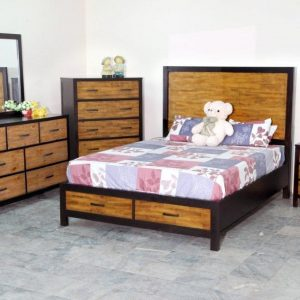 BN-BR20 Poplar wood bedroom furniture set
