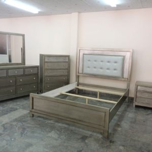 BN-BR21 Best sell Bedroom Collections w/ Leather Heaboard