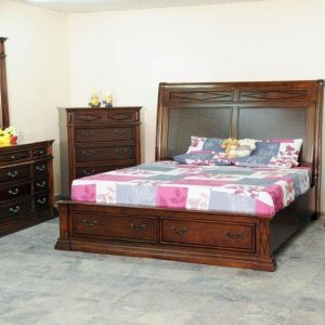 BN-BR23 PINE wood bedroom furniture