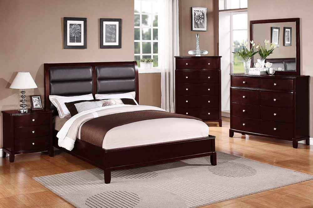 BN-BR27 best sell Bedroom Collections w/ Leather Heaboard