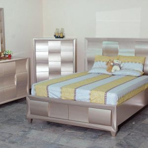 BN-BR80 BEST SELL SILVER BEDROOM FURNITURE SET