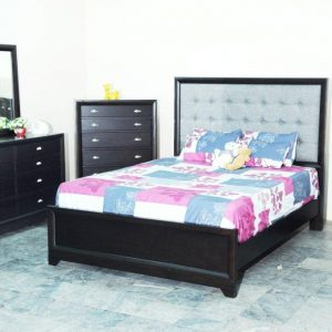 BN-BR81 BEST SELL BEDROOM COLLECTIONS W/ TUFTED FABRIC HEABOARD