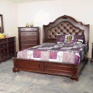 BN-BR83 BEDROOM COLLECTIONS W/ TUFTED LEATHER HEABOARD