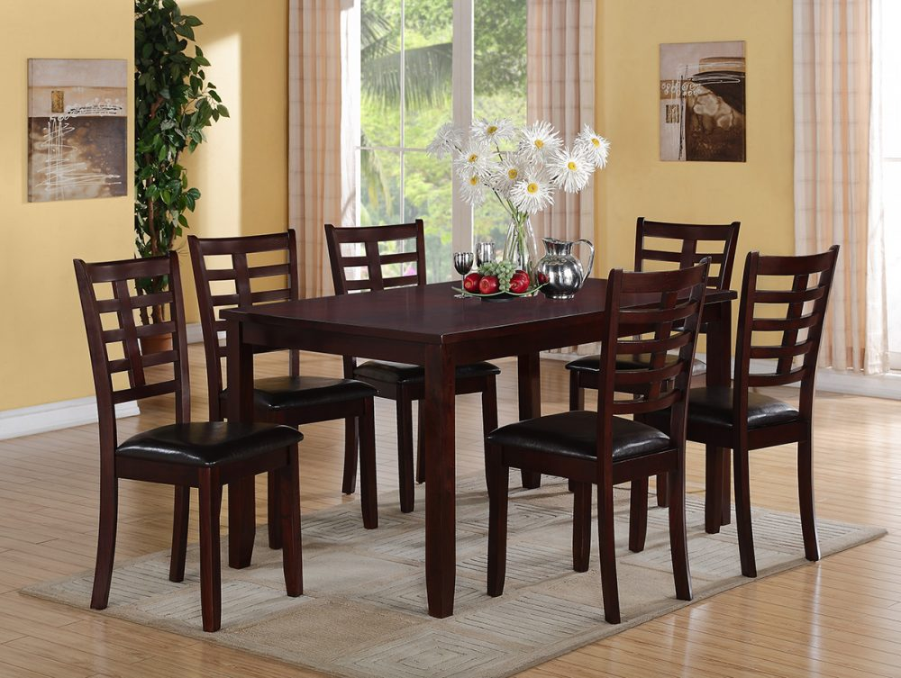 BN-DN09 DINING ROOM SET W/ LEATHER SEAT