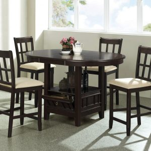 BN-DN11 ROUND DINING FURNITURE SET WITH LEATHER