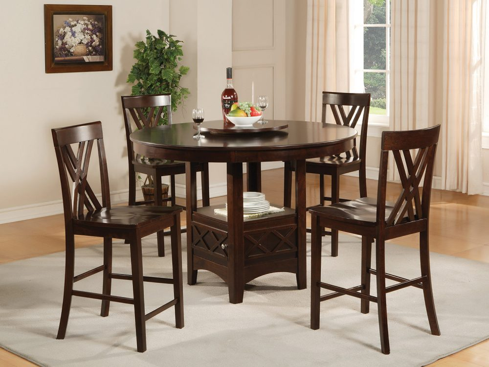 BN-DN12 ROUND DINING FURNITURE SET IN VIETNAM