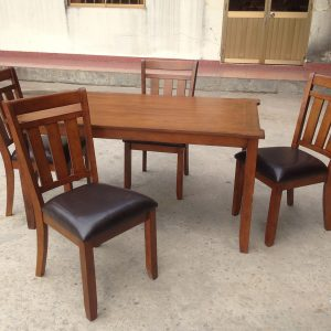 BN-DN25 SQUARE DINING ROOM SET WITH LEATHER SEAT