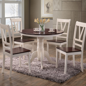 BN-DN46 ANTIQUE CHERRY ROUND DINING SET
