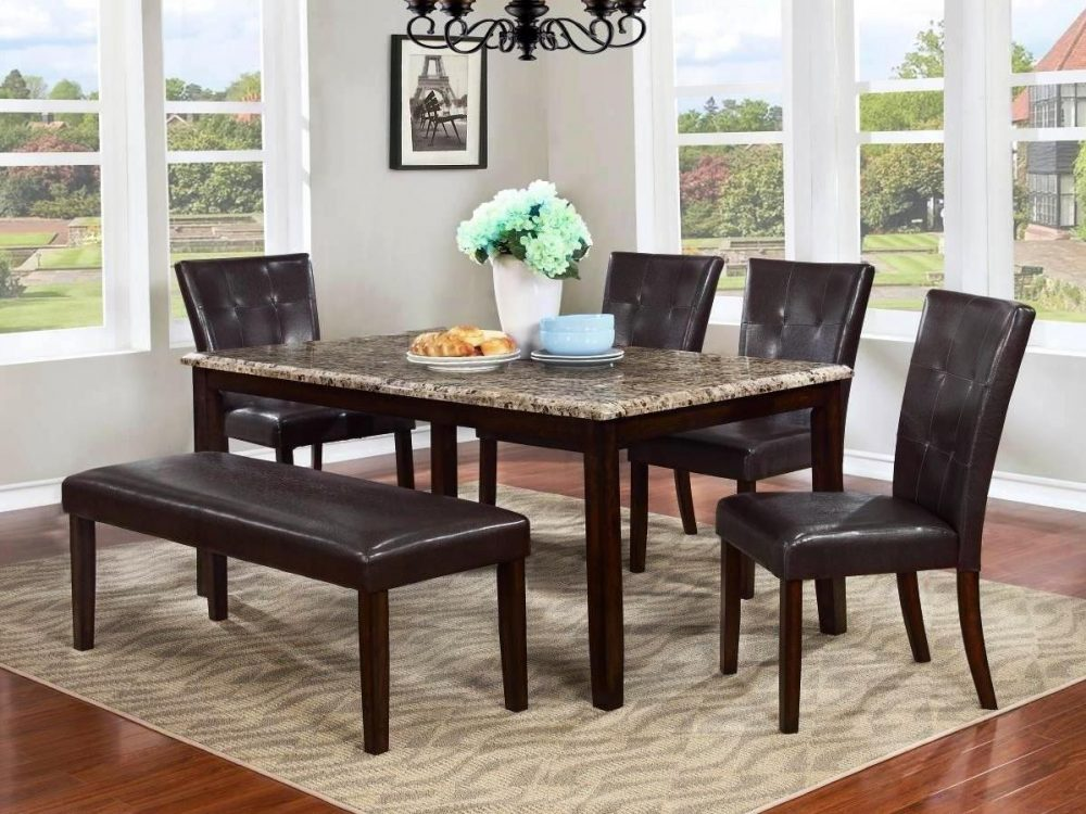 BN-DN53 DINING ROOM FURNITURE WITH MARBLE TOP IN VIETNAM
