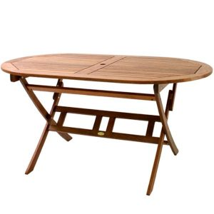BN-OD59 OVAL FOLDING TABLE 900X1500 - CURVED LEG